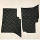 """Коврики под сиденье УАЗ 452 (2 предмет) (винил/кожа, поролон, ватин, стеганый """"ромб""""), черный"""